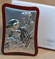 Holy Family Silver/Gold-Rectangular