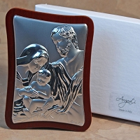 Holy Family Silver-Rectangular