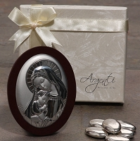 Made In Italy Silver Madonna and Child