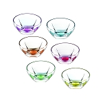 Fusion Crystal Multicolor Set of 6 Bowl Set