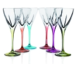 Fusion Crystal Multicolor Water Goblet Set