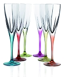Fusion Crystal Multicolor Champagne Set