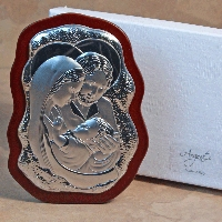 Holy Family Silver-Scalloped
