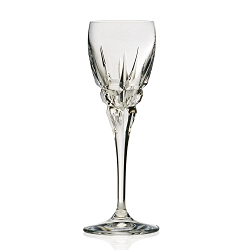 Carrara Collection Red White Goblet from the DaVinci Line