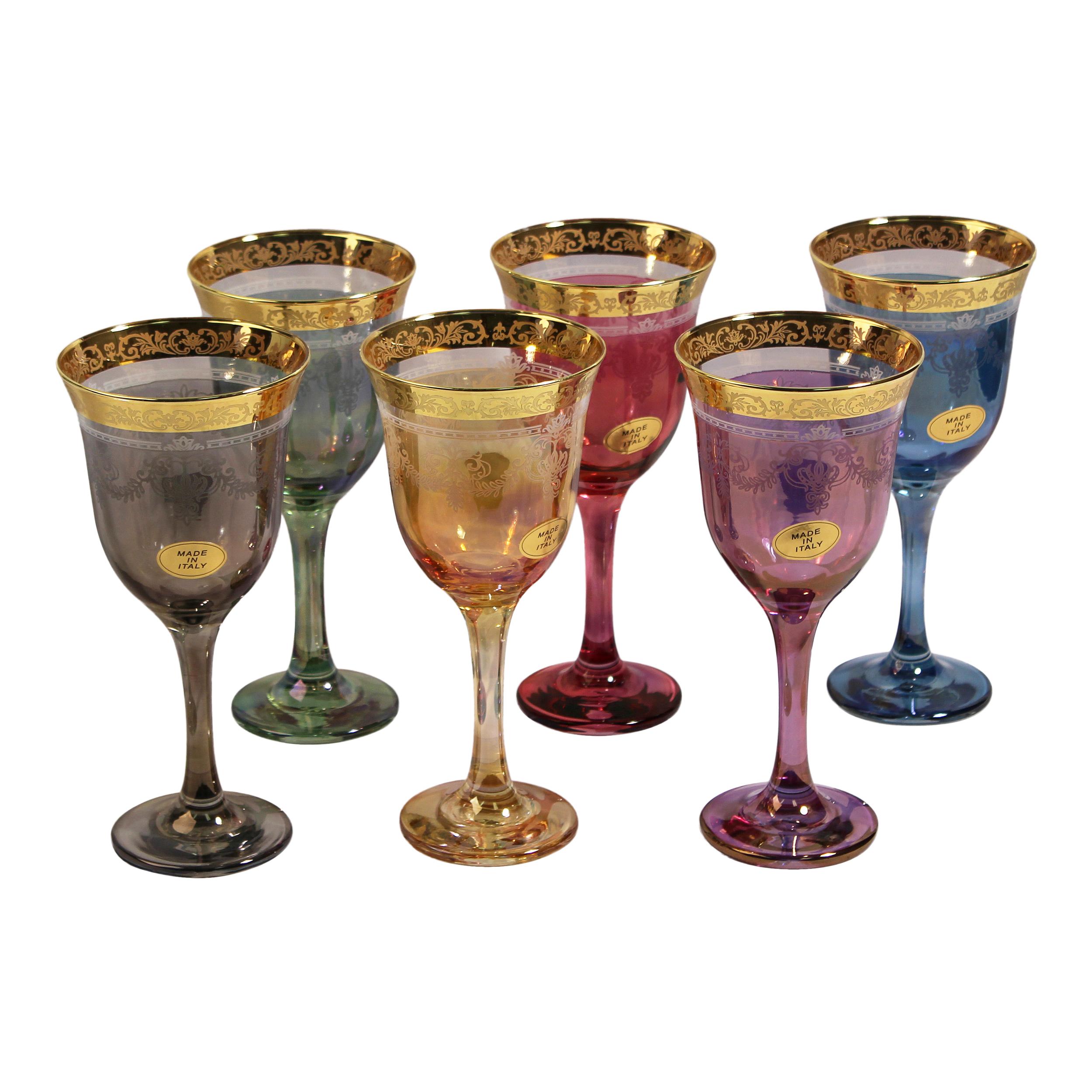 Wine Goblets Set Of 6 Multicolor-Corona