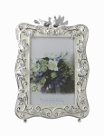Pewter Frame With Dove Motif