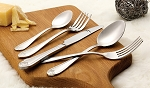 84 Piece Flatware set service for 12 Mirror finish Stainless Steel-Lorena