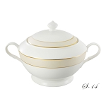 La Luna Collection Bone China Souptureen with Lid, Valentina Pattern by Lorren Home Trends