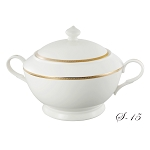 La Luna Collection Bone China Souptureen with Lid, Natalia Pattern by Lorren Home Trends