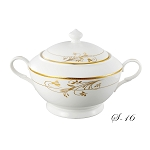 La Luna Collection Bone China Souptureen with Lid, Rosalia Pattern by Lorren Home Trends