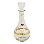 Decanter Bottle with Gold Venetian Band
