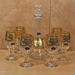 Decanter and Goblet Set-7 Piece Clear-Veneziano