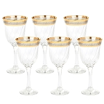 White Wine Set of 6 Melania Collection Smoke