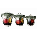 Regina Set of 3 Canister Set-By Lorren home Trends