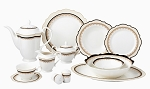 Lorren Home Trends 57 Piece Bone China Dalilah Service for 8