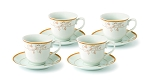 Tea/Coffee Set-Service for 4 Gold Floral Design