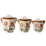 Sunflower Set of 3 Canister Set-By Lorren home Trends