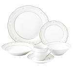24 Piece Wavy Dinnerware-Porcelain-Srvice for 4-Atara