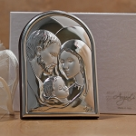 Holy Family Silver Dome Shape