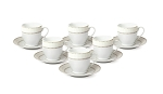 Espresso Set-Service for Six Silver Design