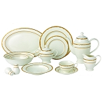 57 Piece Dinnerware Set-New Bone China Service for 8 People-Sonia