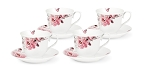 Tea/Coffee Set-Service for 4 Pink Floral and Butterfly Design