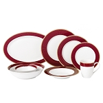 Lorren Home 50 Piece New Bone China Dinnerware Set Service for 8-Twilight