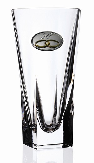 RCR Fusion Crystal Vase Large with 50th Anniversay Design
