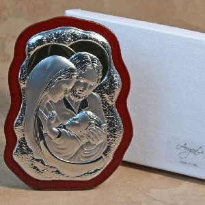 Holy Family Silver/Gold-Scalloped