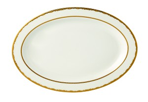 "Serving Platter 14"" Bone China Sonia"